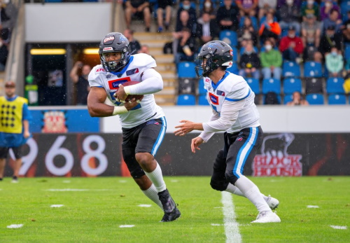 Wroclaw Panthers im Angriff