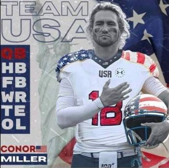 Conor Miller, Quarterback USA Eagles