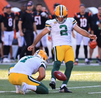 Green Bay Packers Kicker Mason CosbyMason
